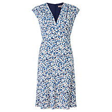Buy Jigsaw Daisy Print Dress, Blue Online at johnlewis.com