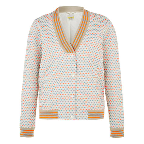 Buy NW3 By Hobbs Bristol Bomber Jacket, Beige Multi Online at johnlewis.com