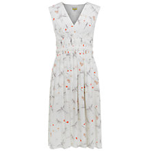 Buy NW3 By Hobbs Iris Pleat Dress, Ivory Multi Online at johnlewis.com