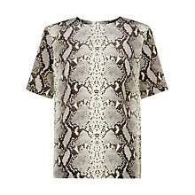 Buy Hobbs Cali Snake Print Top, Multi Online at johnlewis.com