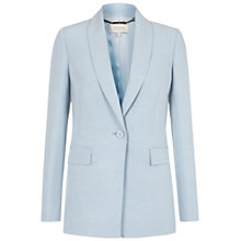 Buy Hobbs Sarah Silk-Blend Jacket, Pastel Blue Online at johnlewis.com