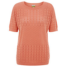 Buy NW3 By Hobbs Lexi Sweater, Peach Pink Online at johnlewis.com