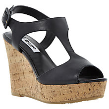 Buy Dune Goaly Leather Cork Wedge Platform Sandals Online at johnlewis.com