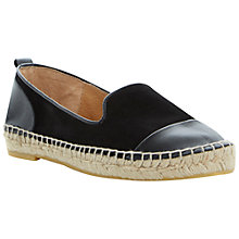 Buy Dune Lolled Flat Ballerina Espadrille Shoes Online at johnlewis.com