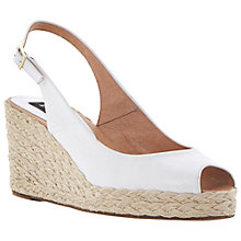 Buy Dune Black Lara Peep Toe Sling Back Wedge Espadrilles Online at johnlewis.com