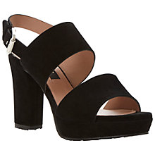 Buy Dune Black Lanni Chunky Block Heel Sandals, Black Online at johnlewis.com