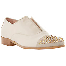 Buy Dune Black Harri Jewelled Toe Cap Slip On Leather Loafers, Nude Online at johnlewis.com