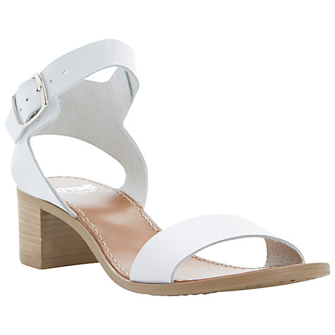 Buy Bertie Hobart Leather Block Heeled Sandals Online at johnlewis.com