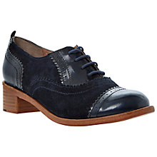 Buy Dune Lanelle Suede & Patent Block Heel Lace Up Brogues Online at johnlewis.com