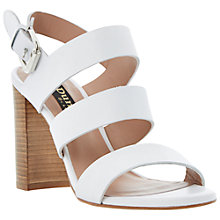 Buy Dune Black Larna Strappy High Block Heel Sandals Online at johnlewis.com