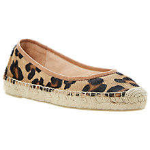 Buy Dune Black Pony Gamba Espadrille Pumps, Leopard Pony Online at johnlewis.com