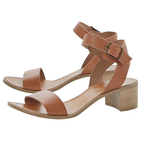 266fbbf21f65 Hobart Leather block heel sandals in tan £59.99