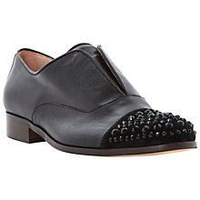 Buy Dune Black Harri Jewelled Toe Cap Slip On Loafers, Black Online at johnlewis.com