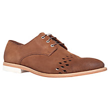 Buy KG by Kurt Geiger Jarrado Cassano Leather Derby Shoes, Tan Online at johnlewis.com