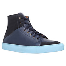 Buy KG by Kurt Geiger Bryson Hi-Top Trainers, Navy Online at johnlewis.com