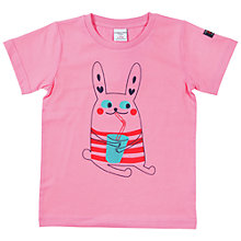 Buy Polarn O. Pyret Girls' Animal Motif T-Shirt, Pink Online at johnlewis.com
