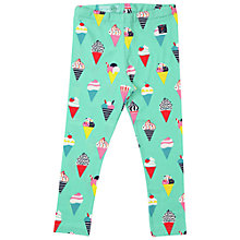 Buy Polarn O. Pyret Girls' Ice Cream Print Leggings, Green/Multi Online at johnlewis.com