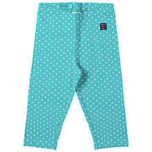 Buy Polarn O. Pyret Baby Polka Dot Leggings, Teal Online at johnlewis.com