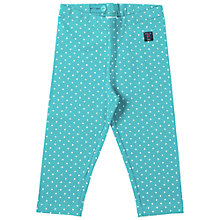 Buy Polarn O. Pyret Girls' Polka Dot Leggings, Teal Online at johnlewis.com