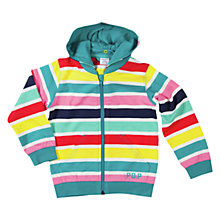 Buy Polarn O. Pyret Stripe Zip-Through Hoodie, Multi Online at johnlewis.com