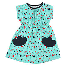 Buy Polarn O. Pyret Baby Meadow Print Jersey Dress, Turquoise Online at johnlewis.com