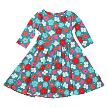 Buy Polarn O. Pyret Baby Floral Print Dress, Blue/Red Online at johnlewis.com