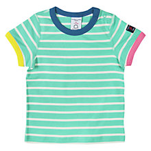 Buy Polarn O. Pyret Childrens' Striped T-Shirt, Green/Multi Online at johnlewis.com