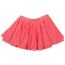 Buy Polarn O. Pyret Girls Polka Dot Skater Skirt, Pink Online at johnlewis.com