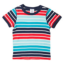 Buy Polarn O. Pyret Baby Stripe Cotton T-Shirt Online at johnlewis.com