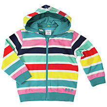 Buy Polarn O. Pyret Baby Stripe Zip-Through Hoodie, Multi Online at johnlewis.com