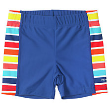 Buy Polarn O. Pyret Stripe Panel UV Swim Shorts, Blue Online at johnlewis.com