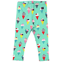 Buy Polarn O. Pyret Baby Ice Cream Print Leggings, Green/Multi Online at johnlewis.com