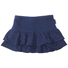 Buy Polarn O. Pyret Girls' Broderie Ra-Ra Skirt, Navy Online at johnlewis.com