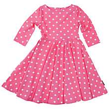 Buy Polarn O. Pyret Girls' Polka Dot Dress, Pink Online at johnlewis.com