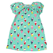 Buy Polarn O. Pyret Girls' Ice Cream Print Dress, Green/Multi Online at johnlewis.com