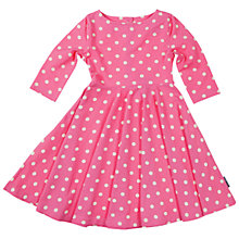 Buy Polarn O. Pyret Baby Polka Dot Dress, Pink Online at johnlewis.com