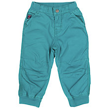 Buy Polarn O. Pyret Baby Cargo Trousers, Teal Online at johnlewis.com