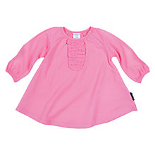 Buy Polarn O. Pyret Baby Ruffle Fronted Dress, Pink Online at johnlewis.com