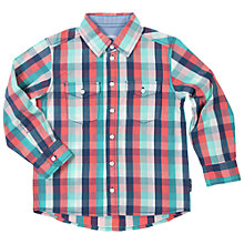 Buy Polarn O. Pyret Boys' Double Pocket Check Shirt, Blue/Red Online at johnlewis.com
