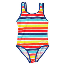 Buy Polarn O. Pyret Girls' Striped Swimsuit, Multi Online at johnlewis.com