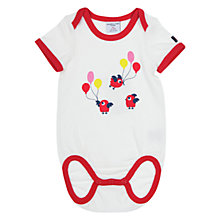 Buy Polarn O. Pyret Baby Bird Print Bodysuit, White Online at johnlewis.com