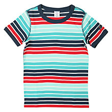 Buy Polarn O. Pyret Boys' Stripe Cotton T-Shirt Online at johnlewis.com