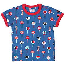 Buy Polarn O. Pyret Baby Candy Print T-Shirt Online at johnlewis.com