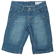 Buy Polarn O. Pyret Boys' Three-Quarter Length Denim Shorts, Blue Online at johnlewis.com