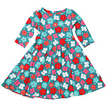 Buy Polarn O. Pyret Girls' Floral Print Dress, Blue/Red Online at johnlewis.com