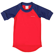 Buy Polarn O. Pyret Short Sleeve Rash Vest, Red/Blue Online at johnlewis.com
