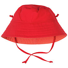 Buy Polarn O. Pyret Baby Cotton Sun Hat, Red Online at johnlewis.com