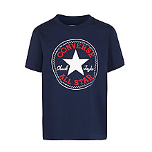 Buy Converse Boys' Chuck Taylor Logo T-Shirt, Navy Online at johnlewis.com