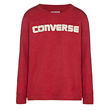 Buy Converse Boy's Logo Long Sleeved Top Online at johnlewis.com
