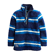 Buy Little Joule Boys' Stripe Fleece, Blue Online at johnlewis.com